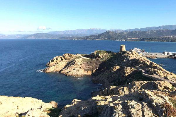 Une vue depuis L'Île-Rousse, Haute-Corse, samedi 16 février 2019.