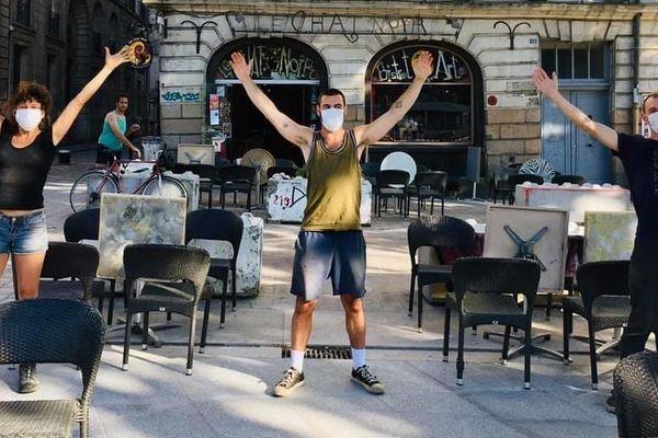 Le Chat Noir comme les autres cafés du centre de Nantes a rouvert ce mardi 2 juin.