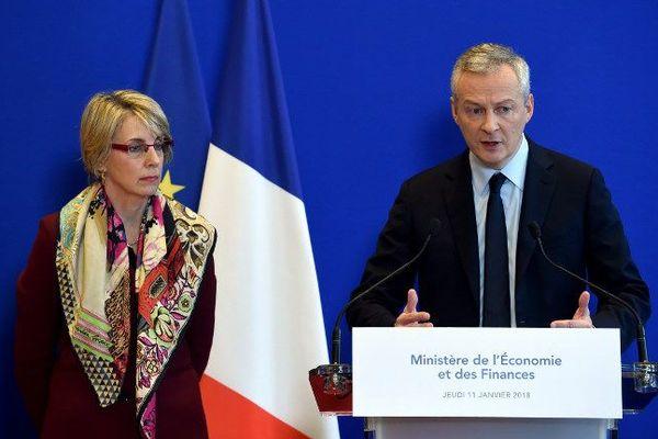 Bruno Le Maire lors de son point presse à Bercy le 11 janvier.