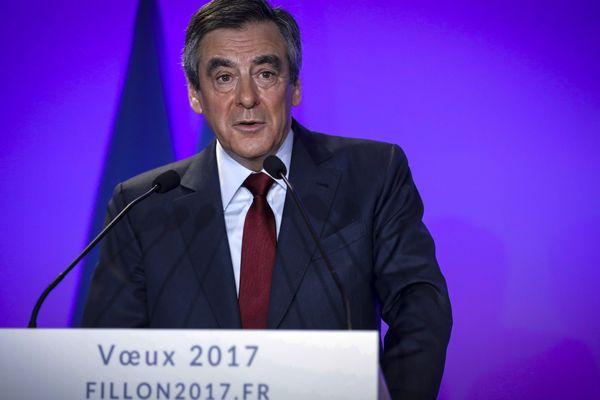 François Fillon lors de ses voeux 2017 à la presse