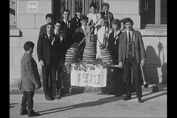 Mouthier-Hautepierre : les conscrits en 1970