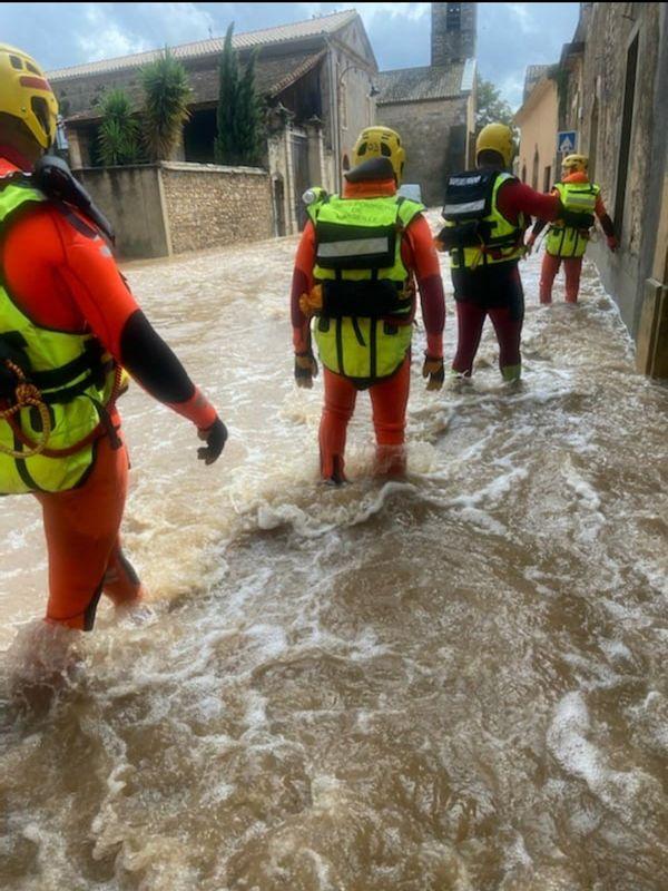 Les marins-pompiers de Marseille ont effectué des reconnaissances dès leur arrivée hier dans le Gard.