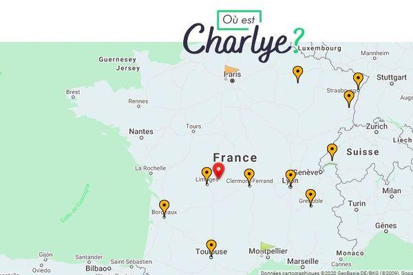 Sur son site internet, une carte permet de suivre le parcours de Charlotte Arnal.