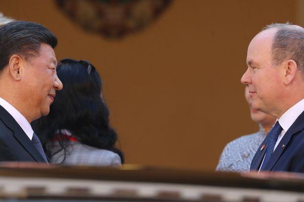 Le président chinois a rencontré le prince Albert II en début d'après-midi à Monaco