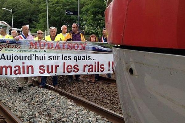 """Baillargues (Hérault) - manifestation du collectif """"Protégeons Mudaison"""" - 16 juin 2015."""