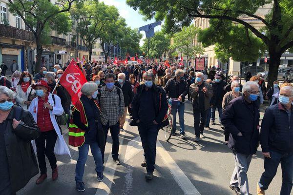Bordeaux, samedi 1er mai 2021, Ll cortège de la Fête du travail partira à 10 h 30 à l'appel de la CGT, FO, FSU et Solidaires