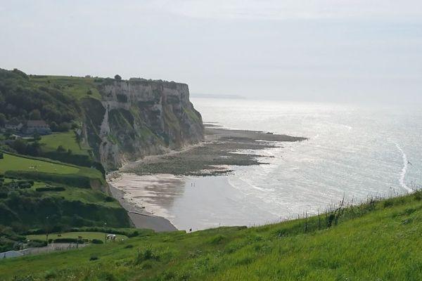 La plage de Petit Caux, près de Dieppe, était le point de départ d'une embarcation d'exilés en partance pour l'Angleterre.