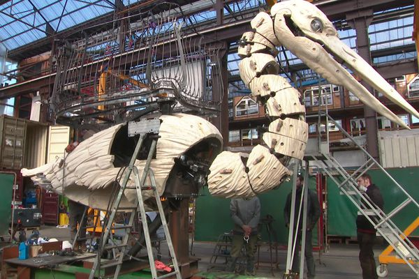 Le Grand Héron en construction, en mars 2021.