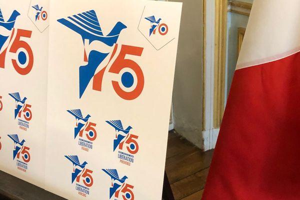 Le logo du 75e anniversaire du Débarquement et de la Libération a été dévoilé ce vendredi 1er mars à la préfecture du Calvados