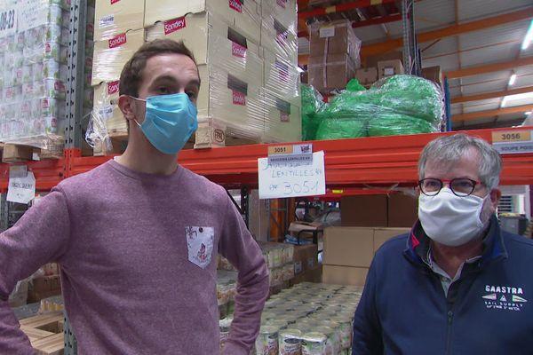 Clément, étudiant, a rejoint les bénévoles des Restos du Cœur cet hiver