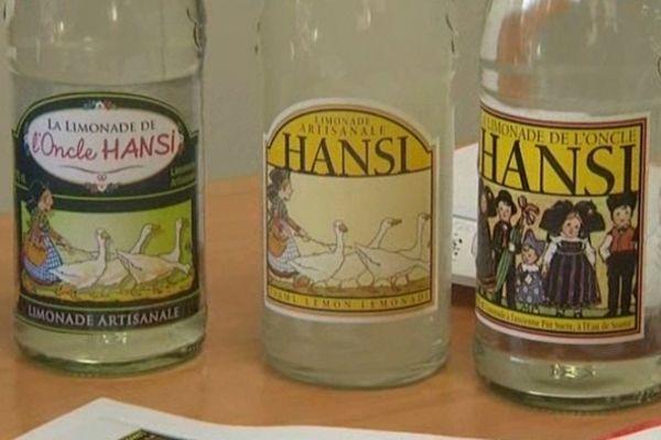 Hansi, déjà sur des bouteilles de limonade