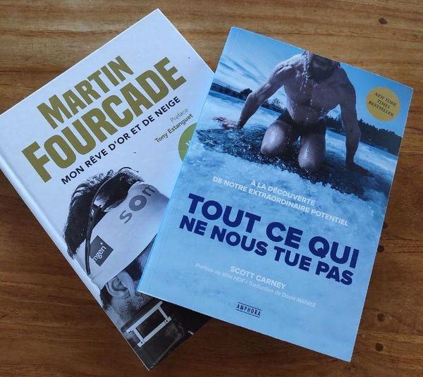 """""""Tout ce qui ne nous tue pas"""" de Scott Carney et """"Mon rêve d'or et de neige"""" de Martin Fourcade"""