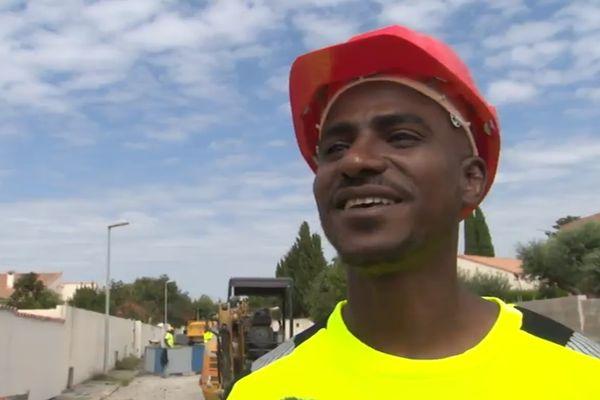 """Omar, réfugié politique participant au programme """"Hope"""""""