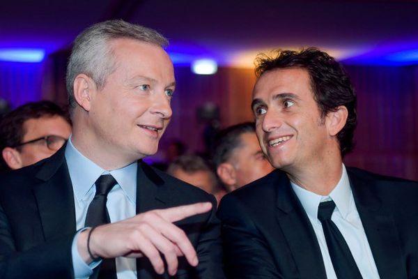 Bruno Le Maire à Bercy, en compagnie du PDG de Carrefour Alexandre Bompard, le 21 novembre 2017.