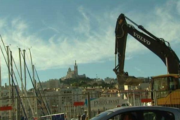 Marseille et ses travaux sur le Vieux-Port