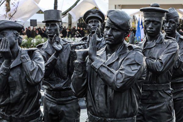Le monument aux morts en hommage aux 549 militaires français décédés en opérations extérieures.