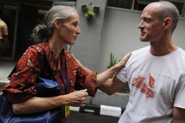 Michaël Blanc et sa maman en 2011