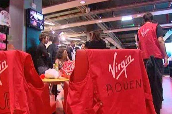 Le magasin Virgin à Rouen