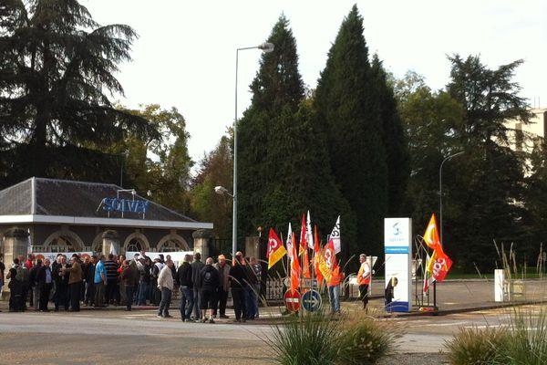 Tavaux : mobilisation des salariés de Solvay inquiets pour leur avenir