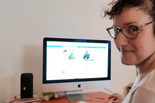 Floriane s'occupe des réseaux sociaux