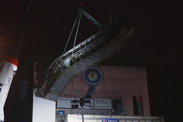 Lyon : on démonte les escalators de la gare de Perrache - 3/2/21