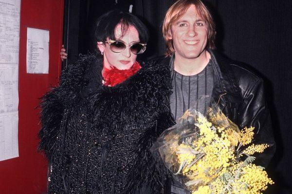 Barbara et Gérard Depardieu, à la sortie d'une représentation de Lily Passion au Zénith de Paris, le 20 février 1986.