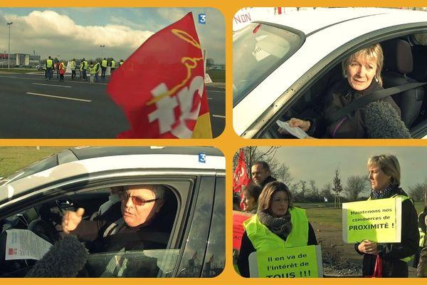 Les syndicats manifestent chaque dimanche devant la grande surface depuis son ouverture en octobre.