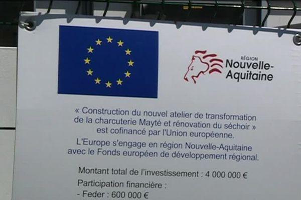 Nouvel atelier de transformation de la charcuterie Mayté co-financé par l'Union Européenne