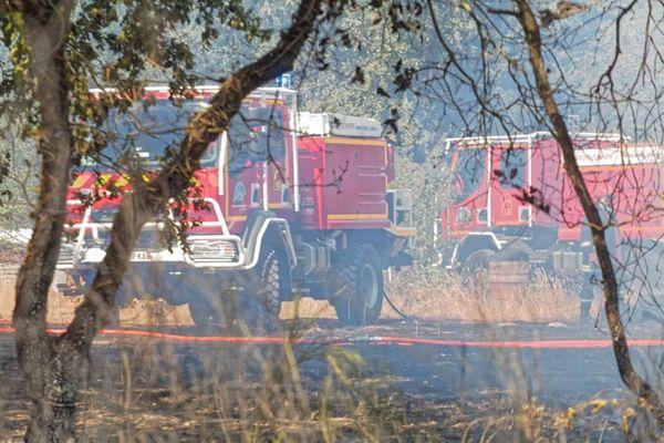 Intervention du SDIS Haute-Garonne le 8 août dernier pour un incendie sur la commune de Villaudric