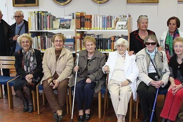 Les témoins réunis à la bibliothèque de Caen, 25 avril 2014