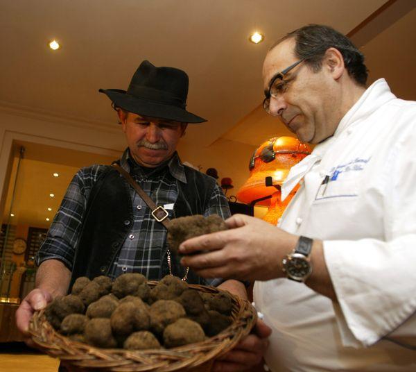 Le chef Philippe Da Silva cuisinait beaucoup autour de la truffe.