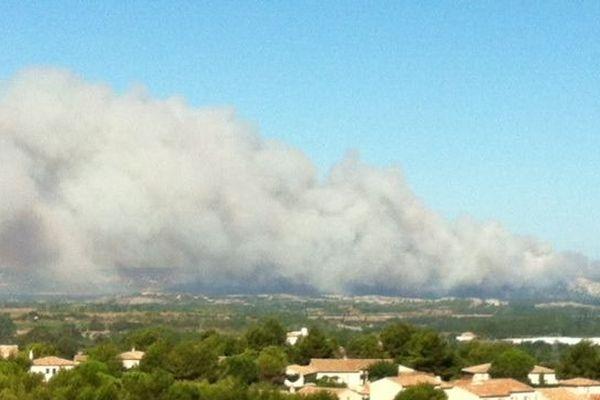 Le feu s'est déclaré sur la commune d'Orgon dimanche 26 août 2012 à 2h40