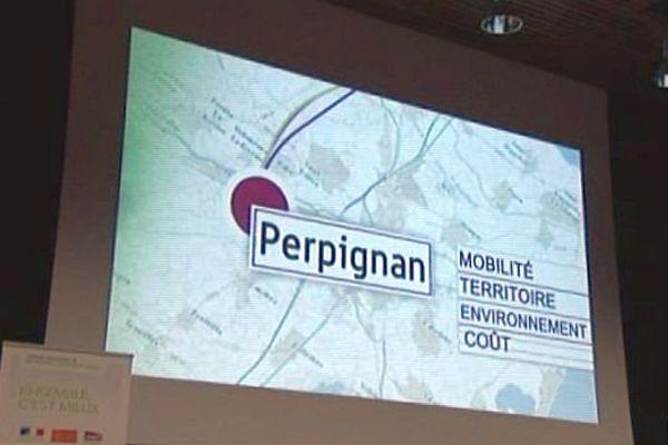 Perpignan - première réunion de concertation sur le projet de LGV entre Montpellier et Perpignan - 13 avril 2015.