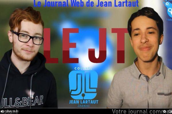 Réaliser un JT, tout en confinement, est une prouesse qu'ont réalisé les élèves du collège Jean-Lartaut de Jarnac (Charente).