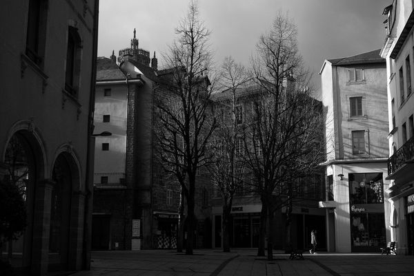La vie s'est arrêtée dans le centre ville de Rodez