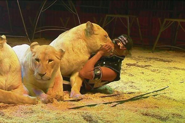 Frédéric Edelstein et ses lions, cirque Medrano, décembre 2018