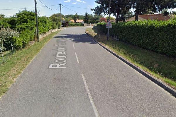 L'accident a eu lieu sur cette petite route, avenue de l'Europe, à St-Denis-de-Pile dans le libournais