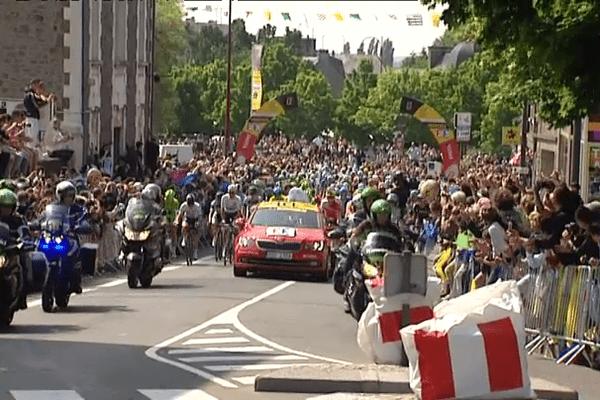 Le départ du Tour de France à Fougères le 11 juillet 2013