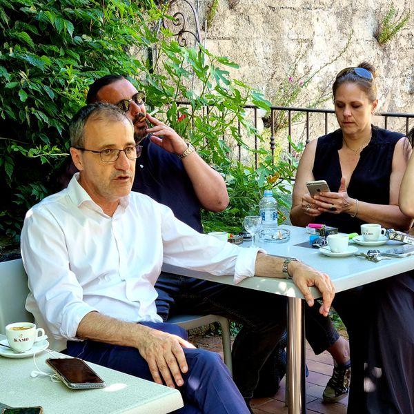 Jean-Guy Talamoni en campagne à Zilia