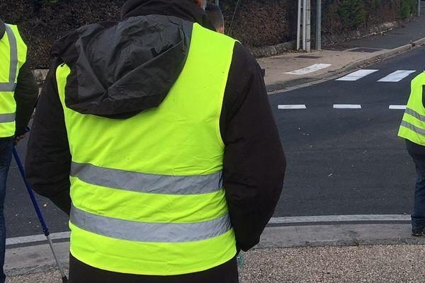 Manifestation des gilets jaunes contre la hausse du carburant. Novembre 2018.