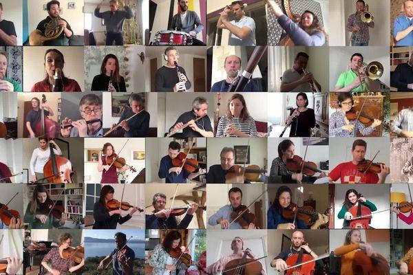 Les 51 musiciens de l'Orchestre national de France ont interprété le Boléro de Ravel depuis chez eux.