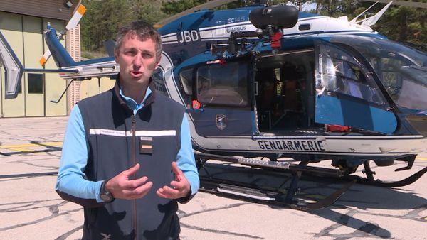 Adjudant Roux Benjamin du PGHM de Jausiers dans les Alpes-de-Haute-Provence