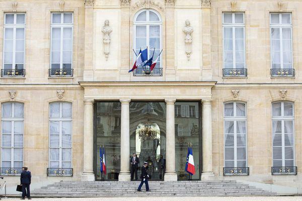 L'entrée principale du Palais de l'Elysée