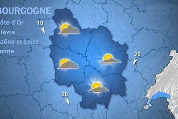 Les prévisions de Météo France mercredi 21 octobre après-midi