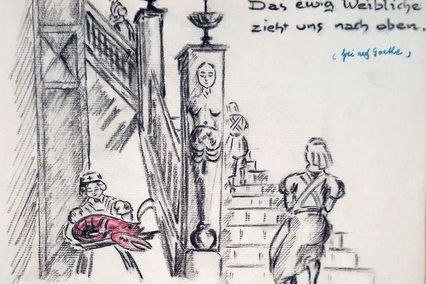 Extraits du livre d'or du Soldatenheim du Casino de Besançon (Ms 2135)