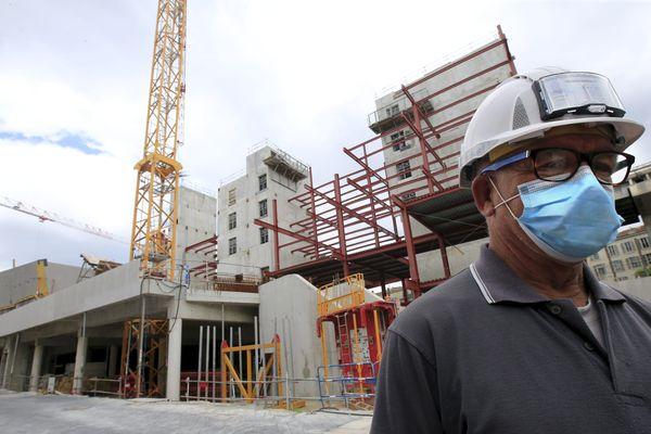 Chantier ICONIC à Nice - L'application des mesures sanitaires un impact dans le secteur de la construction