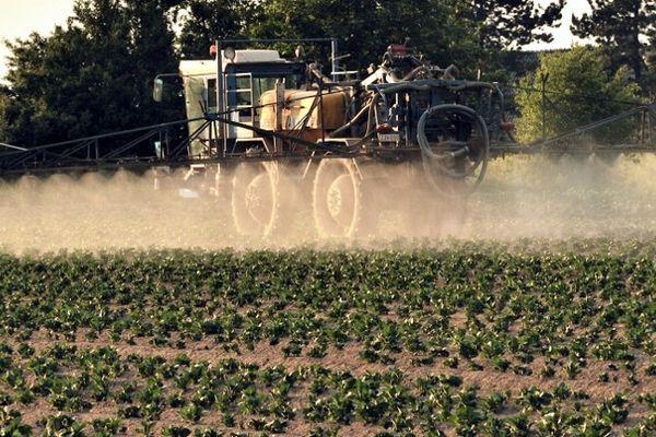 Epandage agricole sur une parcelle de pommes de terre