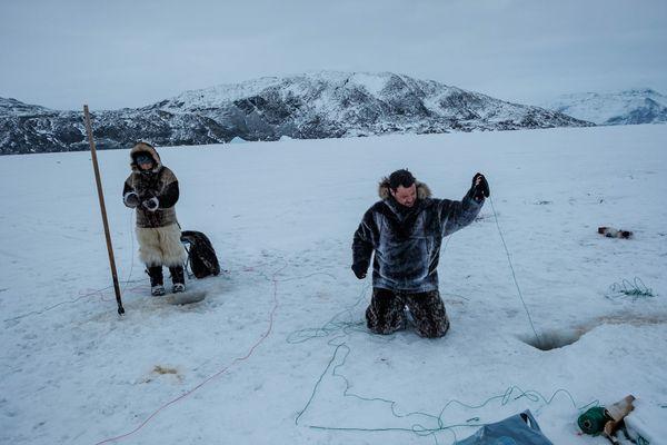 Loïc Blaise lors de l'expédition Polar Kid