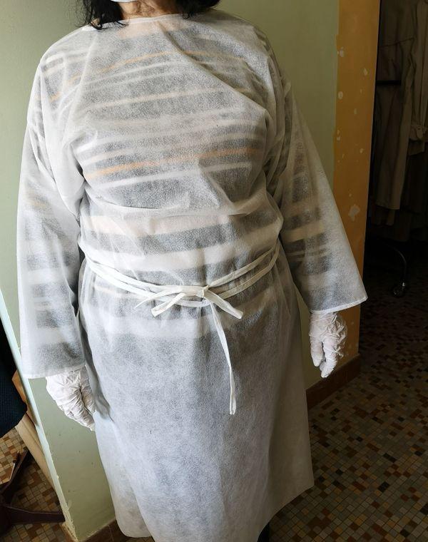 Les sur-blouses élaborées par les couturières