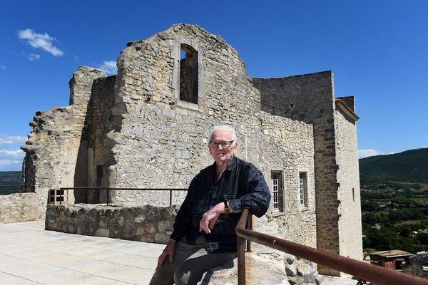 Pierre Cardin dans son château de Lacoste en 2014.
